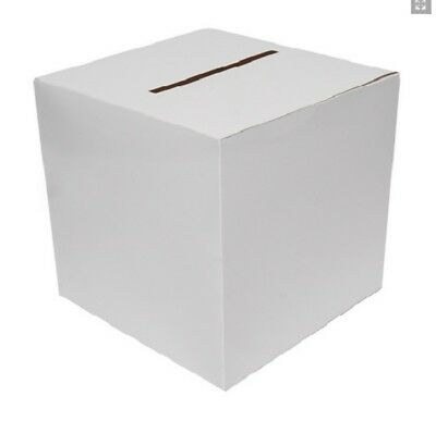 Wedding Reception Post Box Cards Posting Box Plain White Decorate At Home
