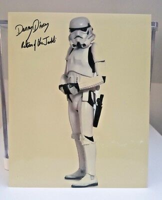 Star Wars Autogramm : Stormtrooper ANH (Danny D'Arcy)  25×20
