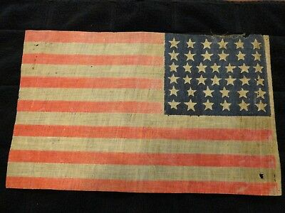 Custer, Reno, Indian War's 38 Star Flag, Vintage 38 Star Flag,