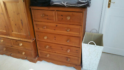 High Quality Pine Chest of 6 Drawers Hand Made in Cheshire Solid