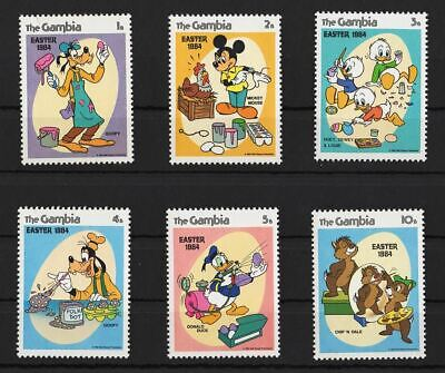 Disney Stamps  GAMBIA - 1984  Set of 6 Stamps