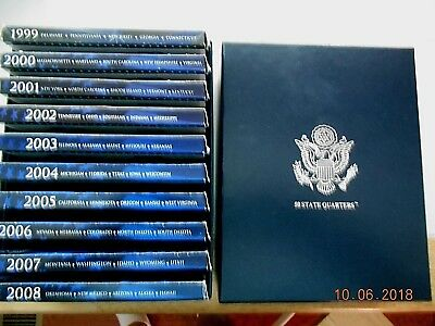 1999 - 2008 US Mint QUARTER PROOF SETS IN STORAGE BOX
