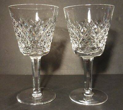 "*VINTAGE* Waterford Crystal ALANA (1952-) 2 Claret Wine 5 7/8"" Made in IRELAND"