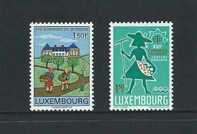 1967 LUXEMBOURG Youth Hostel & Home Gardeners Issues MNH (Scott 454-455)