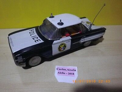 CHEVROLET IMPALA 4 POLICE - TIN TOY CAR MADE IN JAPAN BY ICHIKO to 1960 - 19 cm