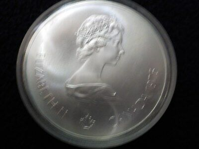 1975 Canada Silver $10 Coin - 1976 Olympics - Canoeing - UNCIRCULATED
