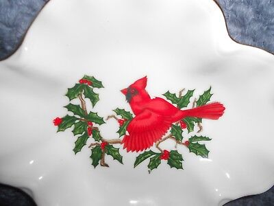 Vintage Lefton China Cardinal Dish #1207 - Beautiful Condition!