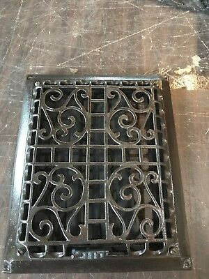 A 20 antique cast-iron heating grate refinished 11.5 x 9.5