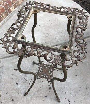 Antique 1895 Victorian Bronze/Brass Plant Stand Table, Ornate Beautiful Patina