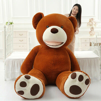 PROMO! Giant Teddy Bear Big HUGE unStuffed Toy Chistmas Valentine Birthday Gift