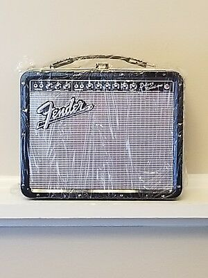 NEW! FENDER Deluxe Reverb Amplifier Guitar Amp Tin Metal Box Retro Lunchbox