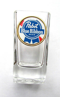 Pabst Shot Glass , Pabst Blue Ribbon Beer Logo Shot Glasses, Pabst shot glass