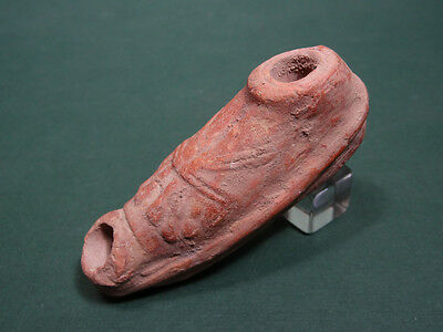 Ancient Votive Oil Lamp Feet In Sandals Terracotta Greco - Roman 200Bc-100Ad
