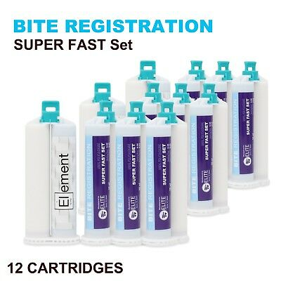ELEMENT BITE REGISTRATION MATERIAL SUPER FAST 12x 50ML CARTRIDGES DENTAL VPS PVS