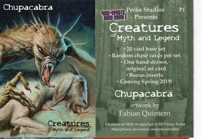 Perna Chupacabra Creatures Myth Legend Promo Card Philly Non Sports Card Show