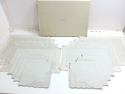 Vintage Original Gray Marghab 16 Piece Placemat And Napkin Set In Original Box