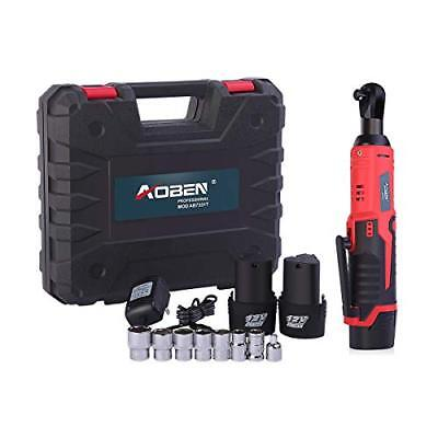 """Cordless Electric Ratchet Wrench Set, AOBEN 3/8"""" 12V Power Ratchet Tool Kit with"""
