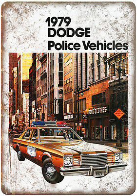 """1979 Dodge Aspen Police Vehicles Vintage Ad 10"""" x 7"""" Reproduction Metal Sign"""