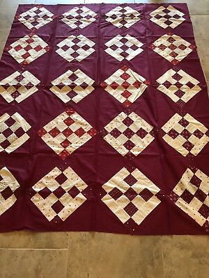 Antique Hand Quilted Quilt Top 66x84 1880s-1910s