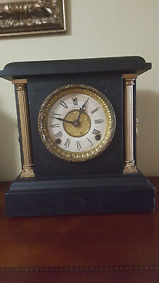 Antique E N Welch Wood Mantel Clock