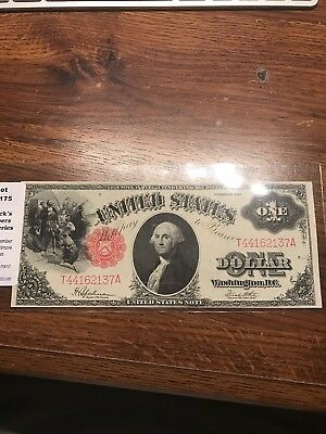 Series Of 1917 $1 One Dollar United States Note Red Seal E In Exelent Condition