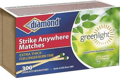 4 Packs (300 Count) Diamond Strike Anywhere Matches Factory Sealed Fresh