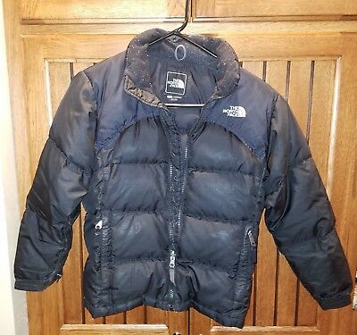 The North Face Childrens Girls Jacket Size Medium Black Quilted Puffer, 600 gr