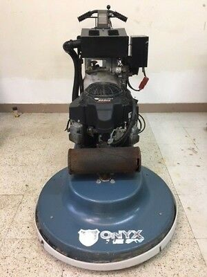 27in Kawasaki Onyx Blue Sky Propane Floor Burnisher with Dust Control