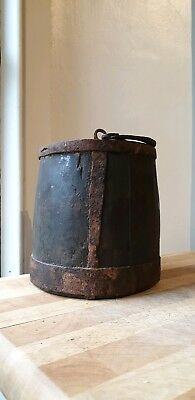 Antique Victorian Treen Flask Wooden Barrel Hand Made Jacobean? Folk Art