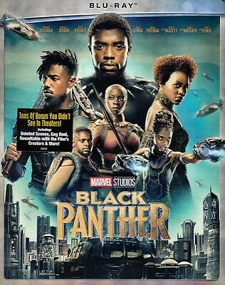 NEW  BLU RAY-w/ SLIPCOVER - BLACK PANTHER - MARVEL COMICS - MARTIN  FREEMAN