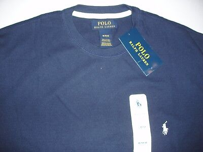 New Polo Ralph Lauren Men's Long Sleeved Thermal Waffle Sleepshirt Top T Shirt