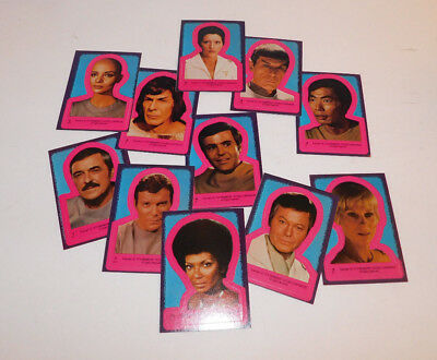 11 1979 Paramount  Pictures Star Trek Trading Card Stickers