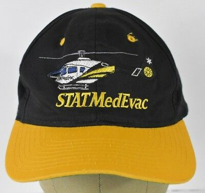 1a3929236ae Black STATMedEvac Helicopter Logo Baseball Hat Cap Adjustable Snapback