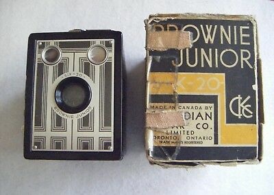 Vintage 1930's Box Brownie Junior Six-20.Made in Canada by CKC.