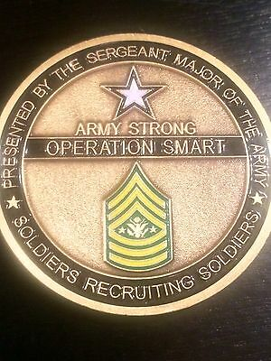 Sergeant Major of the Army Challenge Coin Recruiting Team Operation Smart Rare