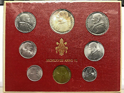 1968 Vatican City Paul VI Anno VI Mint Set Unc #12455