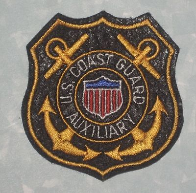 "US Coast Guard Auxiliary Patch - 2 5/8"" x 3 1/8"""