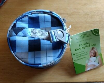 Green Sprouts, Blue Argyle Nursing Pad Bag. New with tags!