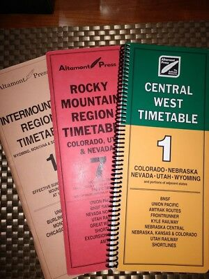Altamont Press Central West Timetable 1 + Intermountain 1 +Rocky Mtn 7 Free Ship