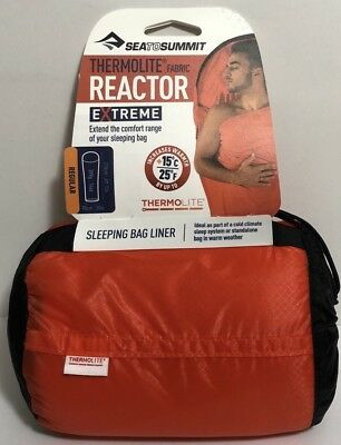 Sea to Summit - Reactor Extreme - Thermolite Mummy Liner One Size Red BRAND NEW