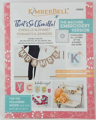 THAT'S SEW CHENILLE ALPHABET BANNERS EMBROIDERY PATTERN BOOKLET, From Kimberbell