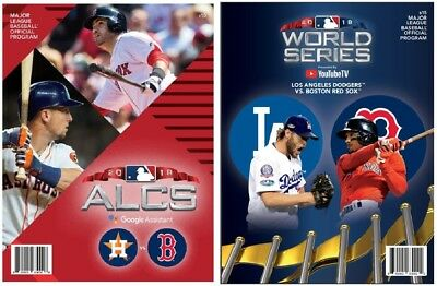 2018 World Series & Alcs Program Set (2) Boston Red Sox American League Champs