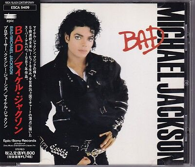 MICHAEL JACKSON BAD CD OBI  Japan Out Of Print ESCA5409 Smooth Criminal