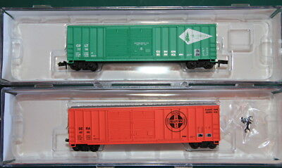 2 Roundhouse 50' Box Cars lettered for C.P&LT and Sierra Railrfoad