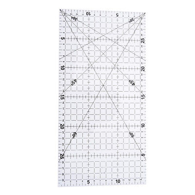 1Pc patchwork ruler quilting tools acrylic material transparent ruler scale-#