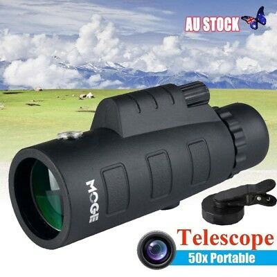 50X60 HD Zoom Optical Lens Monocular Telescope + Clip + Tripod Hunting Camping