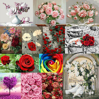 40*50cm Flower DIY Paint By Numbers Kit Digital Oil Painting Art Home Wall Decor