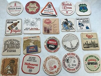 20 Vintage Retro Coasters West End Rum Melbourne Bitter Carlsberg Grant Whisky