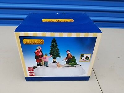 Lemax Village Collection Animated Pine Hill Tree Farm Brand New in Box