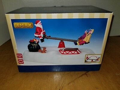 Lemax Village Collection Animated Santa Seesaw Brand New in Box